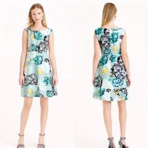 J. Crew floral silk dress sz8